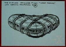 "X-FILES - SEASON ONE - Card #47 - ""DEEP THROAT"" UFO DESIGN - Topps - 1996"