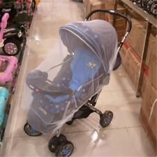 White Baby Buggy Pram Mosquito Cover Net Pushchair Stroller Fly Insect Protector