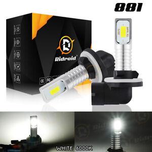 Pair of 880 881 899 LED Fog Driving Light Bulb Conversion Kit Super White Lamp