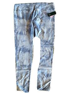 tie-dye leggings blue ladies xxl 95% cotton 5% Spandex NWT