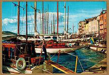Cpsm / Cpm Saint Tropez Var - yachts dans le port wn0347