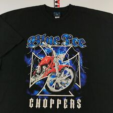 Blue Ice Choppers Motorcycle T Shirt Mens XL 2000's Vintage Lightning Graphic
