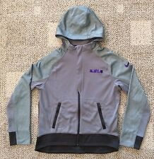 Boys Medium Nike 8 9 Lebron Hero Hoodie Full Zip Sweatshirt Jacket Gray Purple