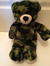 "Camo Teddy Bear Plush Camouflage Build A Bear Babw hunting military 17"" stuffed"