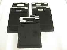 RITEWAY cut sheet film holder 4x5 Planfilm-Kassette x5 /17