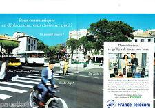 PUBLICITE ADVERTISING 125  1996  FRANCE TELECOM  (2p) Itinéris gsm bi-bop
