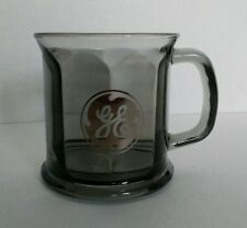 Smoky Black Glass GENERAL ELECTRIC MUG advertising made in USA GE