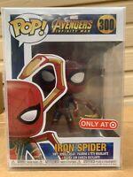 FUNKO POP! Iron Spider Spider-Man Infinity Wars Target Exclusive NEW RARE Marvel