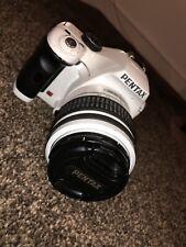 Pentax K K-X 12.4MP Digital SLR Camera - White (Kit w/ 18-55mm Lens)