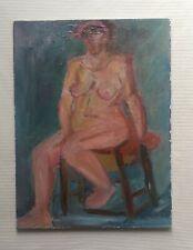 MARIE LOUISE GARNAVAULT 1911-2012 large original oil painting on canvas portrait