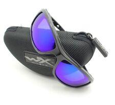 Wiley X Wave Blue Mirror Polarized Matte Black Sunglasses Authentic CCWAV09 r