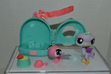 Littlest Pet Shop~#772~Ostrich~Mauve~# 773~Dragonfly~Pink~Blue Cloud Eyes Carrier