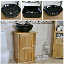 Oak Bathroom Sinks with Flexi Hoses