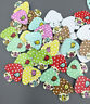 NEW Wooden buttons Mushroom house shaps Mixed color sewing scrapbooking 15mm