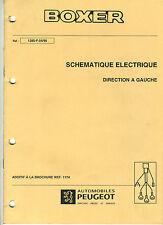 (120) MANUEL ATELIER RÉPARATION PEUGEOT BOXER Schémas électriques Additif 04/98