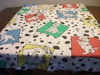 Disney 101 Dalmatians CRIB Sheet set Vintage 1 fitted & 1 Flat CRIB Sheet EUC