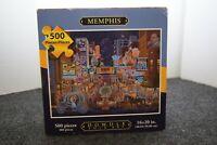 """Dowdle Folk Art 500 Piece Puzzle Memphis Sealed Bag 16"""" x 20"""""""