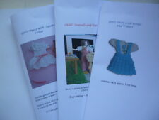 Knitting Patterns for 1/12th scale little girl - SET 2