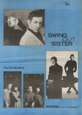 1/4/89Pgn10 Advert Swing Out Sister The New Single 'you On My Mind' 15x11