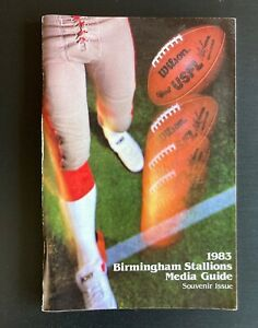 1983 Birmingham Stallions USFL Football Media Guide