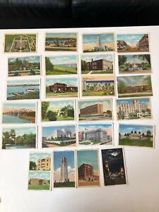 Vintage Lot of 23 LINEN NEBRASKA POSTCARDS 1940s