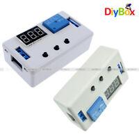 LED Automation Delay Timer Control Relay Module PCB Board 12V/24V White Case