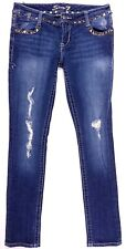 Seven7 Skinny Studded Destroyed Jeans Size 28 Women's Measures 31 x 30.5