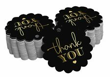 Thank You Bridal Shower Paper Tags Craft Foil Hang Tags-SH3_12BG