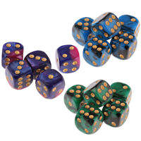 15pcs Square 16mm Six Sided D6 Opaque Standard Game Dice 16mm