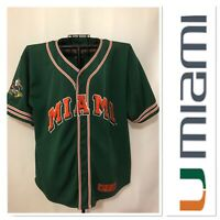 Colosseum University of Miami Hurricanes Jersey Stitched Men's XL