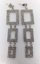 Wedding/Bridal/Formal Long Triple Rectangular  Crystal  Earring