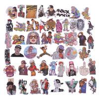 48Pcs/bag hip hop punk music band stickers DIY suitcase laptop car stickers _J