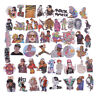 48Pcs/bag hip hop punk music band stickers DIY suitcase laptop car stickers RF