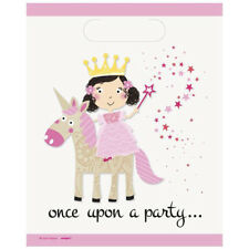 8 x Pink Princess & Unicorn Party Loot Bags Unicorn Party Girls Birthday Party