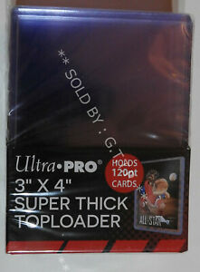 ULTRA PRO TOP LOADERS  - 3 X 4 INCH SUPER THICK CLEAR 120PT(X10)  - FREE UK P&P