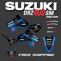 DRZ400 SM Graphics Kit TEAM SUZUKI DRZ400 DRZ400S DRZ400E DRZ400SM DRZ400 BLUE