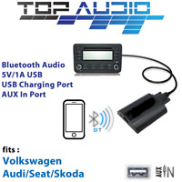Car Bluetooth USB AUX Input hands free A2DP Audio Kits Interface Adaptor VW12