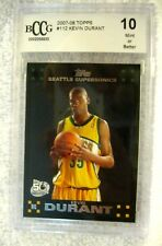 Kevin Durant RC 2007-08 Topps  Rookie Card#112 Graded BccG 10! Warriors Guard RC