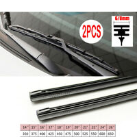 "2PC/Lot 14""/16""/22""/24""/26"" Metal Wiper Blade Refill 6mm/8mm Windscreen Rubber"