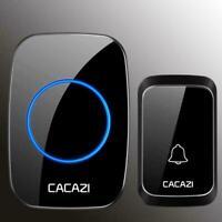 Cacazi Wasserdicht Wireless Türklingel Remote Tür Bell Chime R7M1