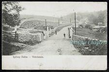 1905 Railway Level Crossing Waterhouses Staffordshire Postcard C350