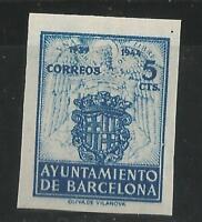 ESPAÑA - BARCELONA - 1944 - EDIFIL 56 S/D - NUEVO SIN GOMA