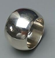 Breiter gewölbter Bandring 925 Sterling Silber punz. RG 58/18,4 mm /A886