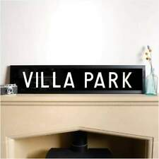 More details for original framed bus destination blind - villa park