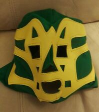 WWE REY MYSTERIO GREEN /YELLOW LEATHER FACE MASK DISGUISE