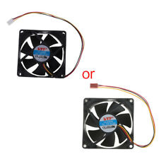 3 pin 80mm x 25mm PC Computer CPU Fan Cooler Heatsink Cooling Fan Exhaust Black