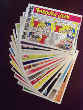 1985 U.K. Garbage Pail Kids Giant Stickers 2 Complete Set in Near Mint Condition