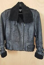 Andrew Marc New York/Women 'Rumor' Faux Shearling Casual Jacket size L Black