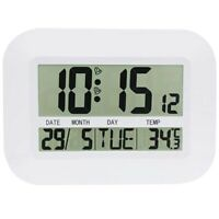 Digital Wall Clock Battery Operated Simple Large LCD Alarm Clock Temperatu D5A3