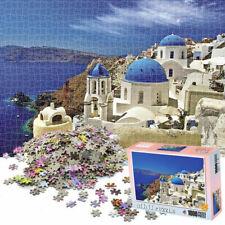 1000 Piece Jigsaw Puzzles Aegean Sea Scenery DIY Educational Cardboard Game US